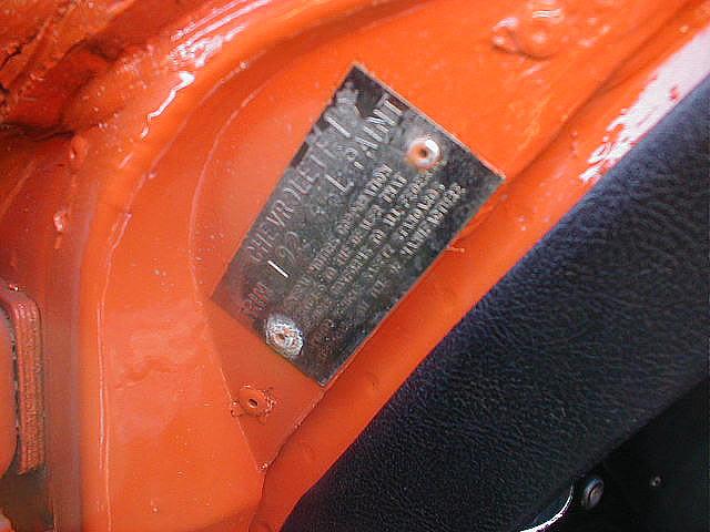 1977 Corvette Identification Numbers