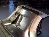 Vermont Composites Source: Typical Z06 front fender mold, showing removable inserts.