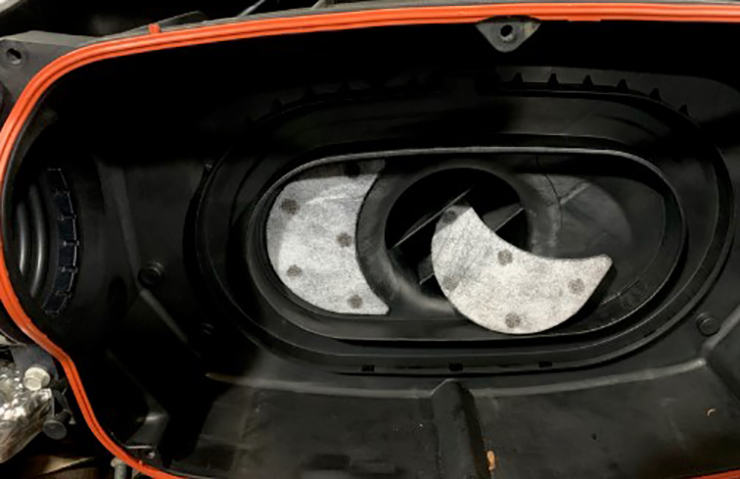 2020 Corvette:  Loose Carbon Patch in Air Cleaner