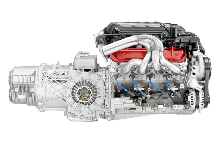 2020 Corvette Stingray LT2 Engine - Side View