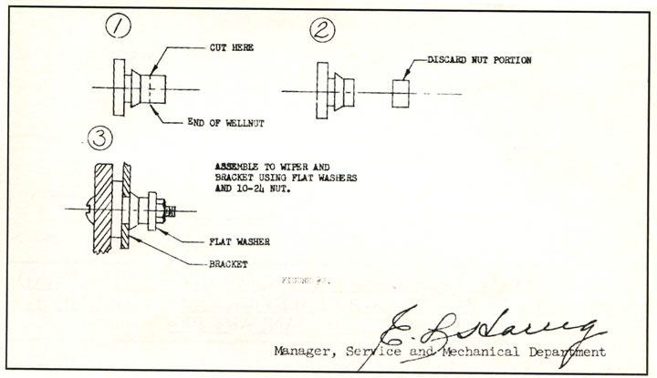 1958 Corvette - Electric Windshield Wiper Information