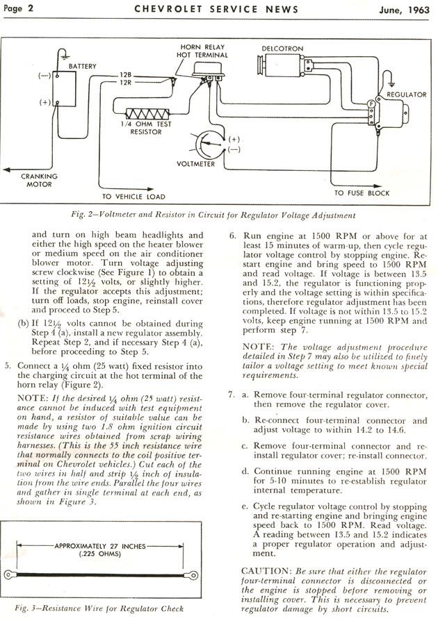 [EQHS_1162]  1963 - 1967 Corvette: Chevrolet Service News: Two-Unit Voltage Regulator  Diagnosis and Adjustment | 63 Corvette Voltage Regulator Wiring Diagram |  | Corvette Action Center