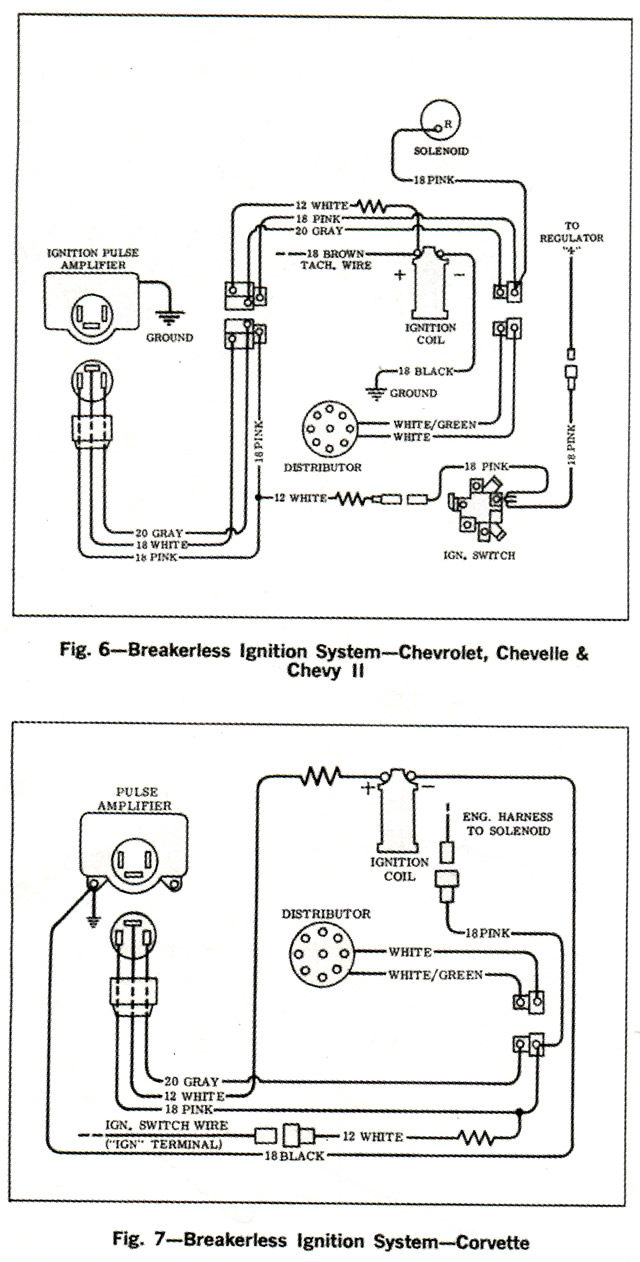 1966 Corvette Service News Wiring Diagrams For Breakerless Car Diagram Automobiles System And Ignition Systems