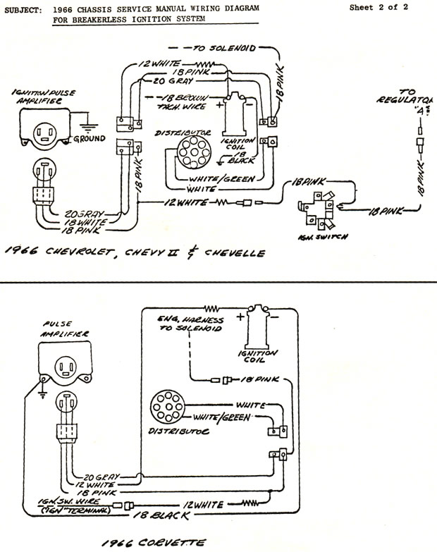 1966 Corvette: Engineering Service Letter: RPO K-66 Wiring Diagram for  Breakerless Ignition System | 1965 Corvette Wiring Diagram |  | Corvette Action Center