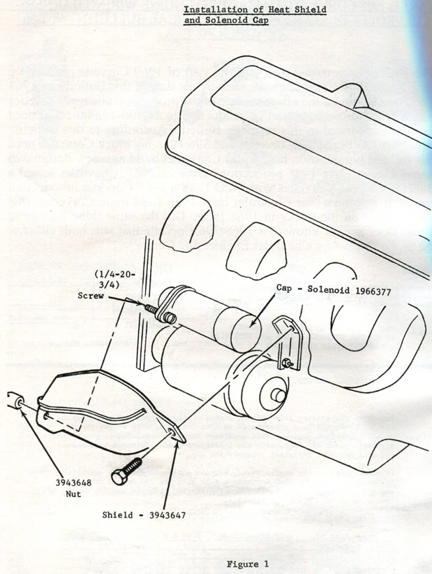 1968 corvette  service bulletin  heat damage to engine wiring harness at starter solenoid