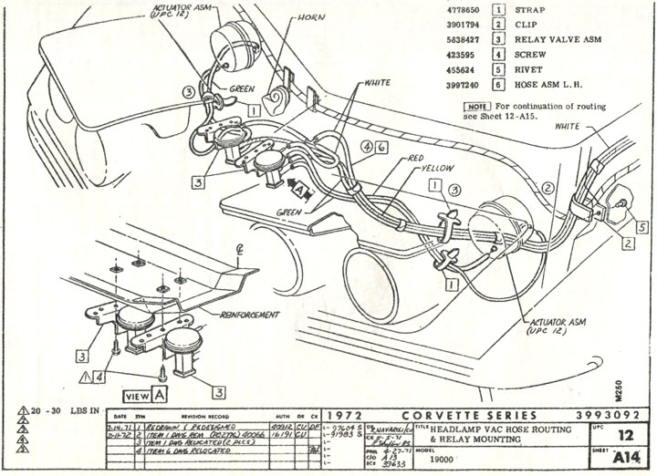 Phenomenal 1972 Corvette Headlight And Vacuum Line Component Schematic Print Wiring Digital Resources Funiwoestevosnl