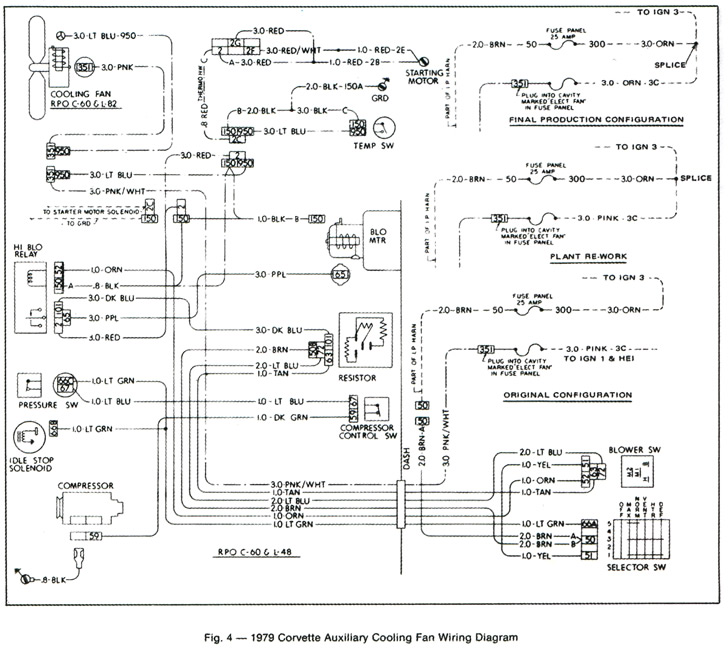 79 malibu tail light wiring diagram 1979 corvette service news corvette auxiliary cooling fan wiring  corvette auxiliary cooling fan wiring