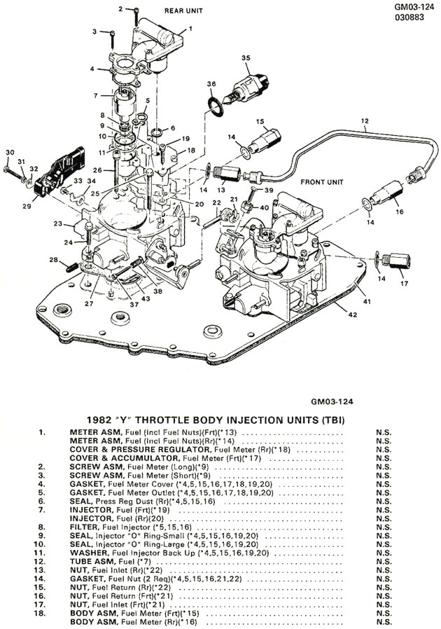 1982 Corvette  Exploded Views Of 1982 Cross