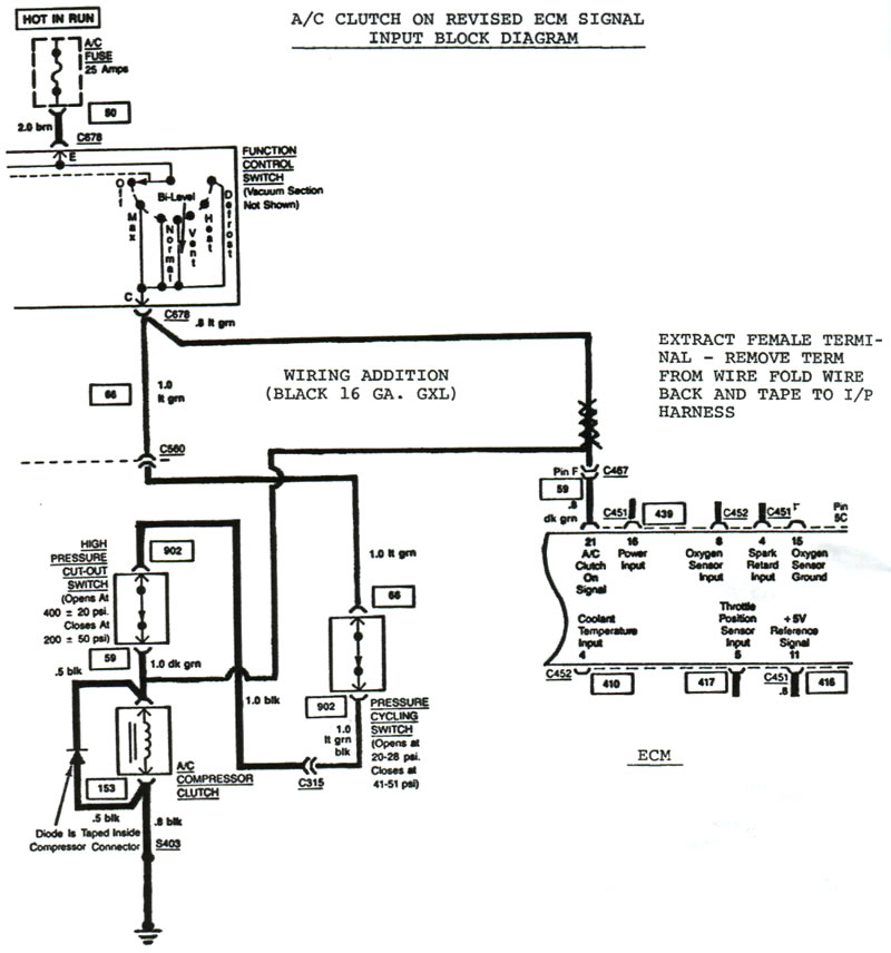 [SCHEMATICS_4FR]  1984 Corvette: Service Bulletin: Engine Stops Running When Starting with Air  Conditioning