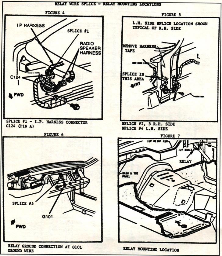 1984 Corvette  Service Bulletin  Rear Hatch Defogger Circuit Revision