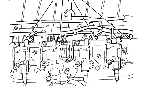 Fig. 17: DTC P0300 Setting after Engine Repairs