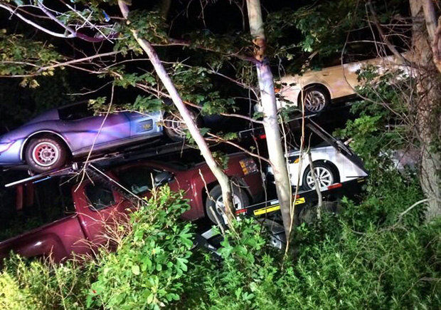 Awaiting classic Corvette's delivery, owner spots it in photo of I-80 car carrier accident