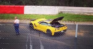 2015 Corvette C7 Z06 testing at the Nurburgring Crashes