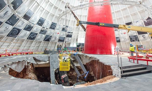 Construction on Corvette-swallowing sinkhole to begin in November