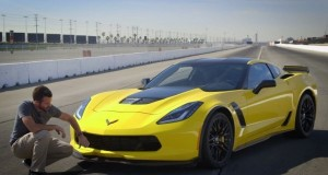 As the new 2015 Corvette Z06 gears up to hit the market early next year, Chevrolet has dropped a yellow one off on Motor Trend Magazine's doorstep for Carlos Lago to test it out.