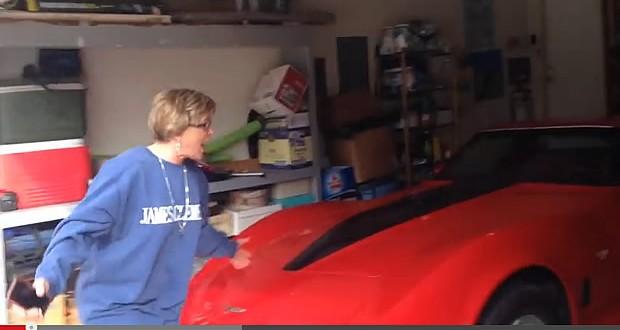 Video:  Oh my gosh!  Karey got a Corvette!