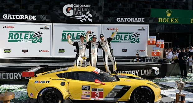 CORVETTE RACING AT DAYTONA: Rolex 24 GTLM Win for Corvette C7.R