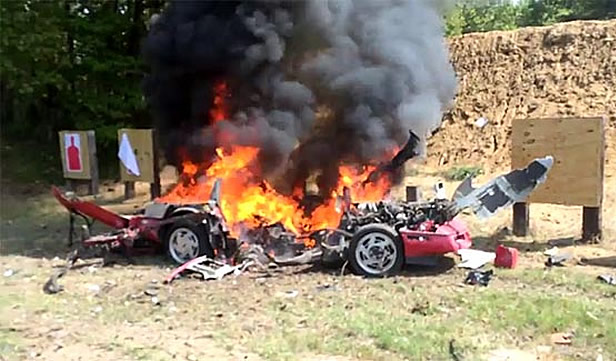 [VIDEO] North Texas Viper Club Blowing up a Corvette with Tannerite