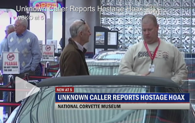 Bomb and Hostage Hoax at the National Corvette Museum