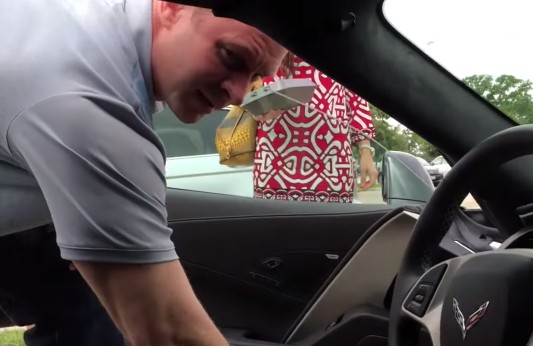 Corvette Surprise for a Dad Who Can't Believe His Eyes