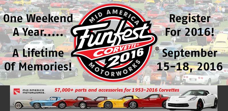 Mid America Motorworks >> Mid America Motorworks Announces Corvette Funfest Theme For 2016