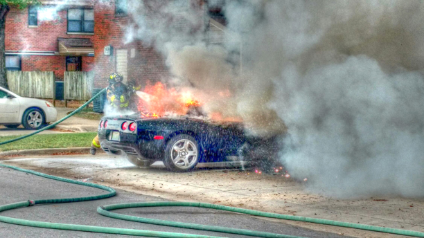 C5 Corvette Goes up in Flames in Cullman, Alabama