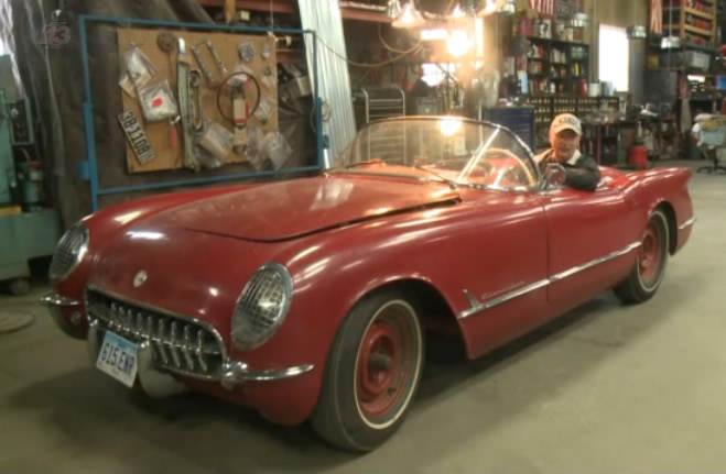 [VIDEO] Iowa Man Gives Life to a 1954 Corvette for First Time in 40 Years