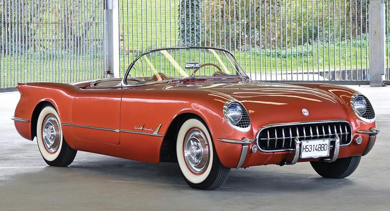 Rare Copper 1955 Corvette to Cross the Sothebys Auction Block