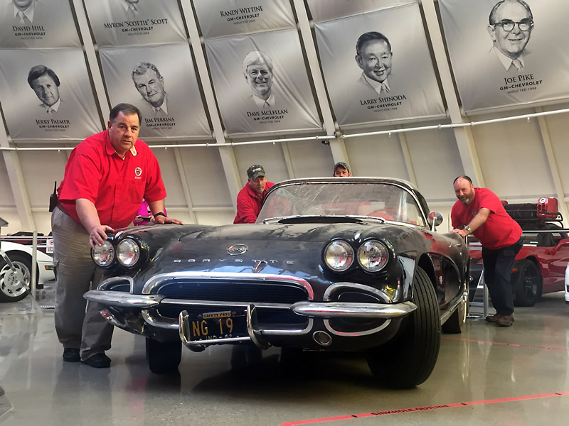 National Corvette Museum Commemorates Sinkhole's Third Anniversary With 1962 Corvette Restoration