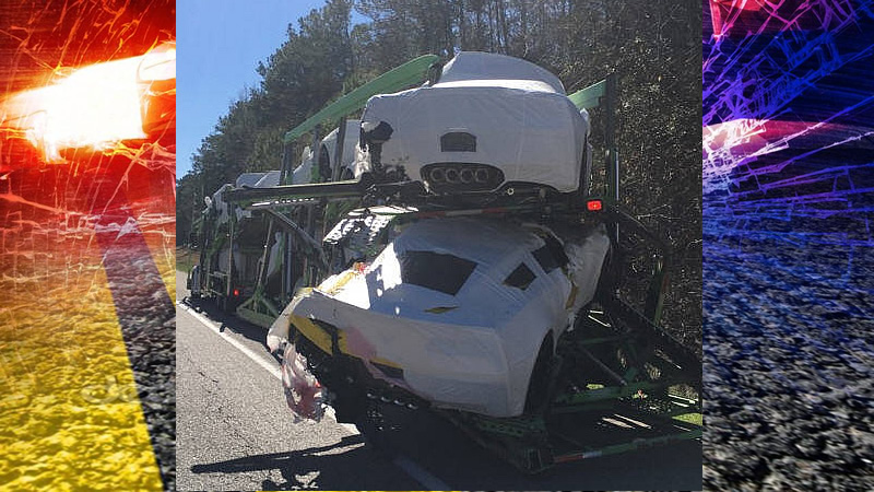Brand New Corvette Delivery Damaged on Alabama Interstate