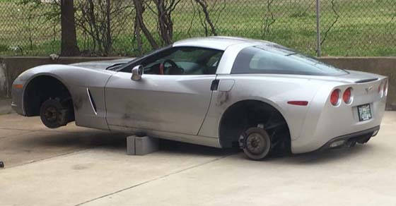 [VIDEO] Wheels Stolen from Tennessee Fire Fighter's C6 Corvette