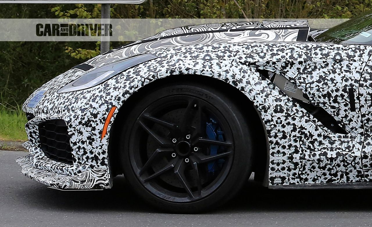 2018 Corvette Zr1 Shows Off Zr1 Wheels And Modified