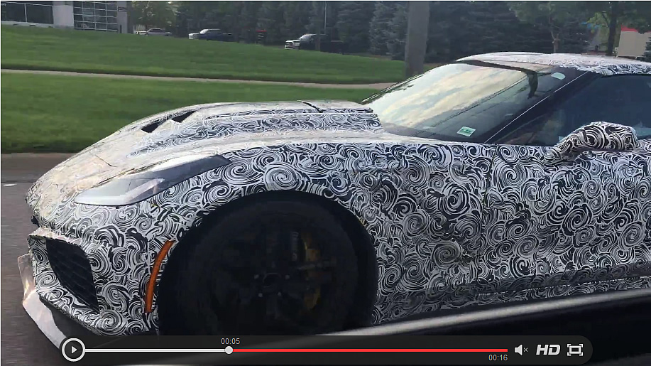 CAUGHT!  Best Video Yet of the C7 Corvette ZR1