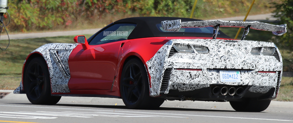 Spied 2019 Corvette Zr1 Interior With Automatic