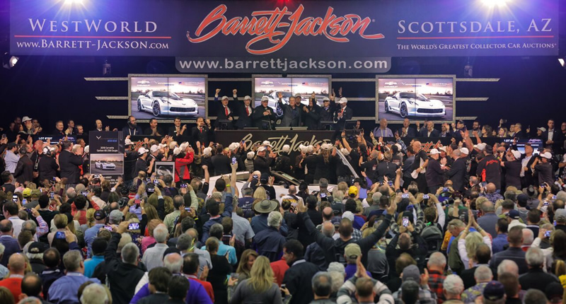 Two Special Corvettes Raise $2.325 Million at Barrett-Jackson Auction to benefit Military Veterans