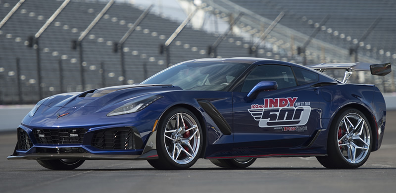 The 2019 Corvette ZR1 Will Pace the Indianapolis 500 Race