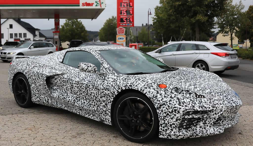 2020 Mid-Engine Corvettes Show a Little More Skin for Spy Photographers