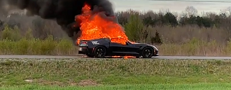 [VIDEO] Owner Watches as his Modified 2014 Corvette Goes Up in Flames