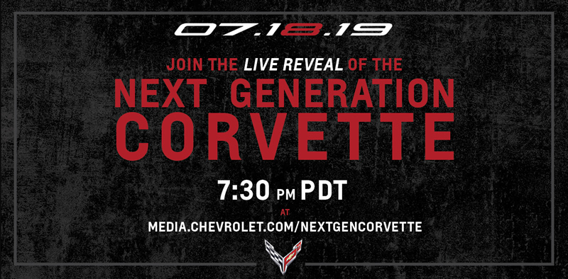 Chevrolet Will Live Stream  2020 Mid-Engine Corvette Reveal