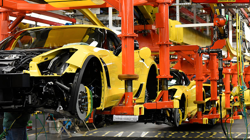 UAW to Go On Strike at Midnight at Corvette Assembly Plant