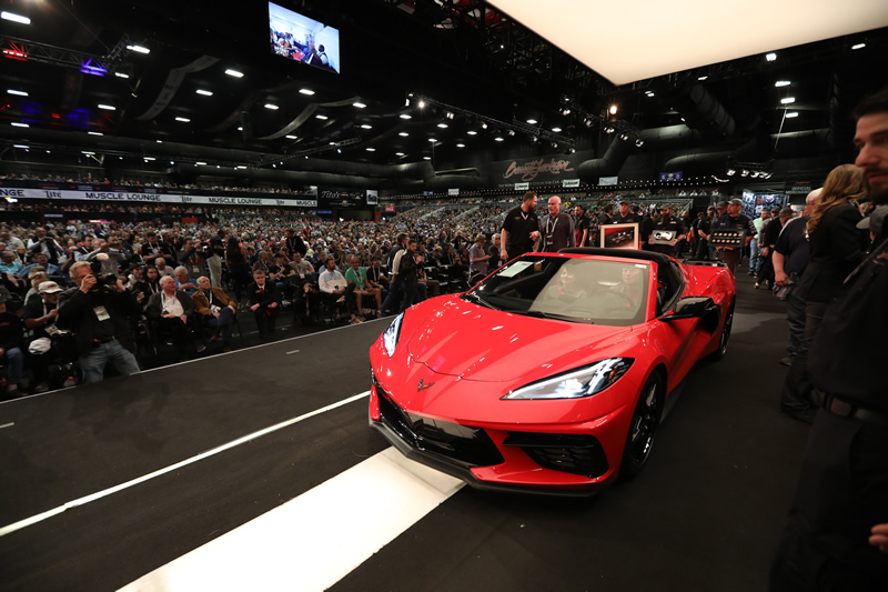 The Very First 2020 Mid-Engine Corvette Sells for $3 Million at Barrett-Jackson Auction