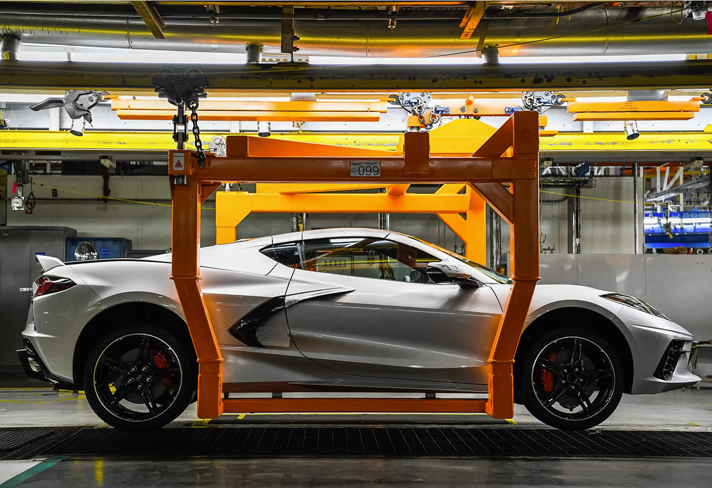 2020 Corvette in Blade Silver Metallic