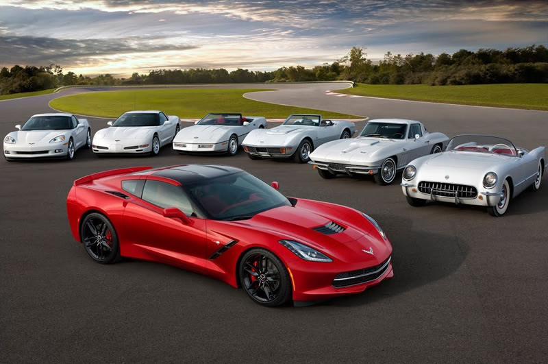 Seven Generations of Corvette From C1 to C7