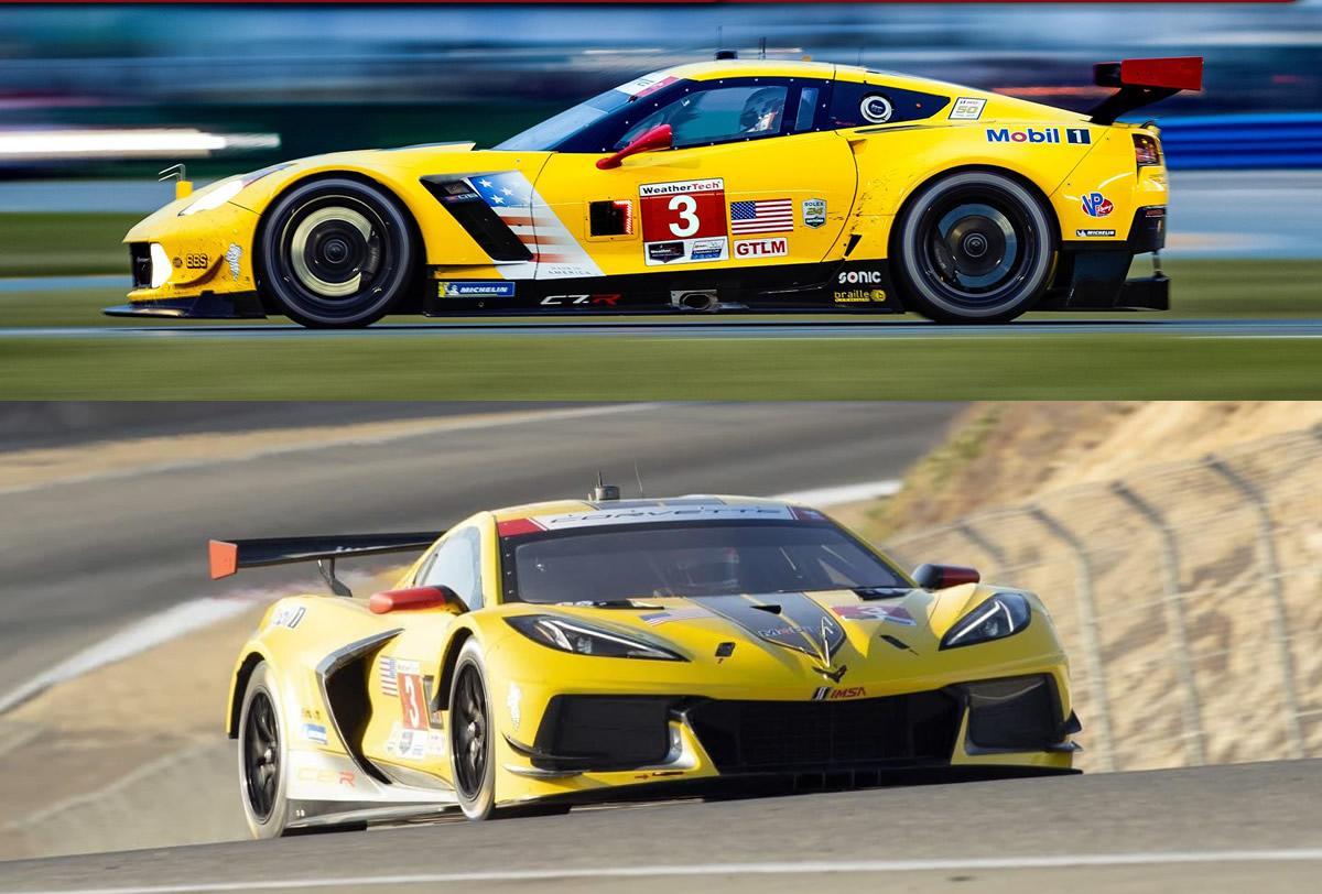 Corvette C7.r and Corvette C8.R