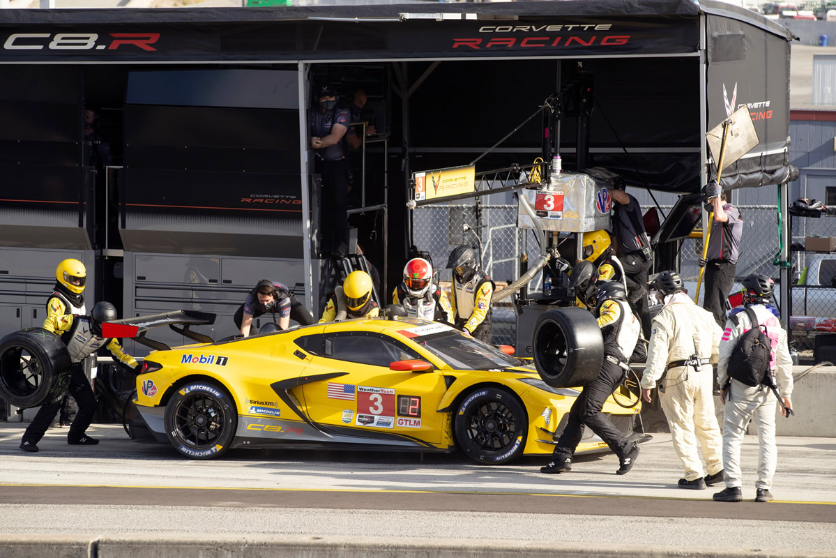 No. 3 Corvette C8.R at Laguna Seca. Photo: Corvette Racing