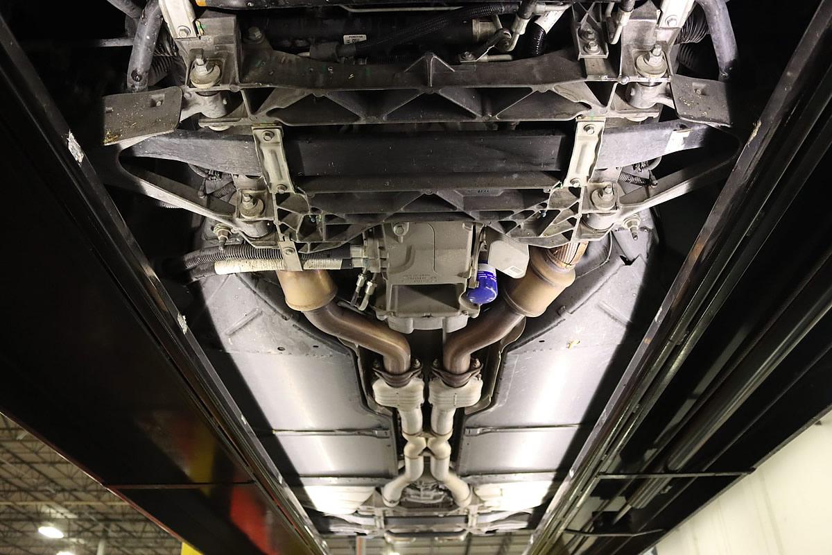 2012 Corvette ZR1 in Carlisle Blue Metallic - Undercarriage