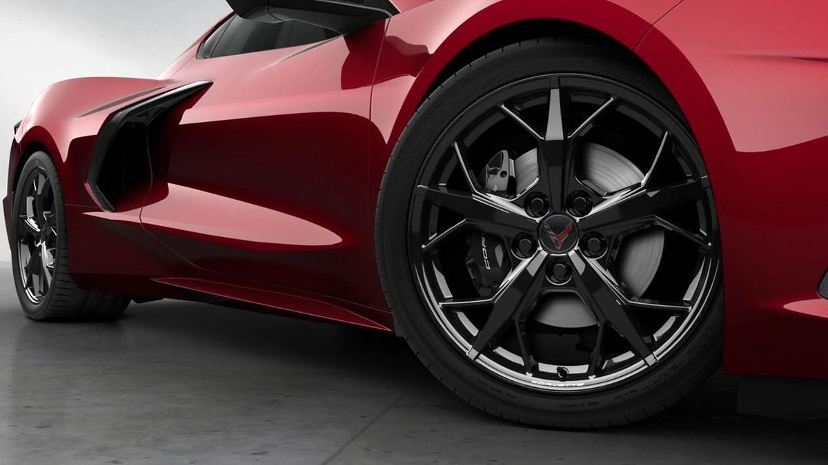 2021 Corvette with Black Trident Wheels