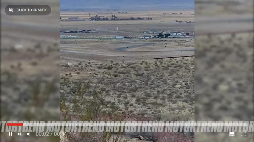 2022 Corvette Z06 Test Mule on the Track