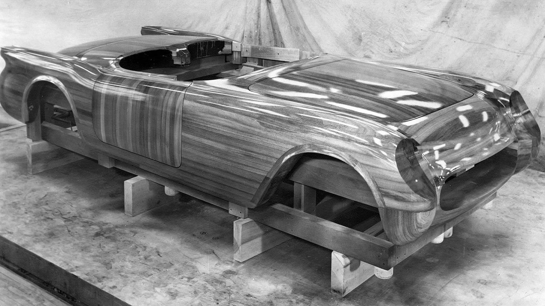 Polynesian Mahogany Body Buck for the 1953 Corvette