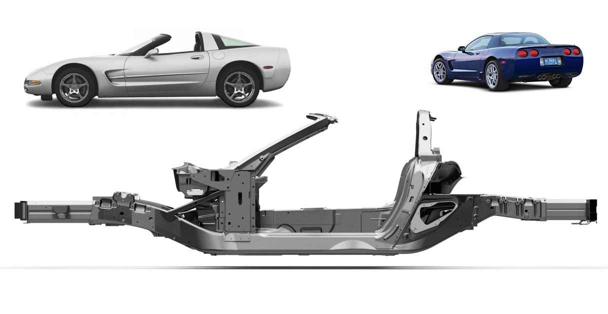 C5 Corvette Frame Structure